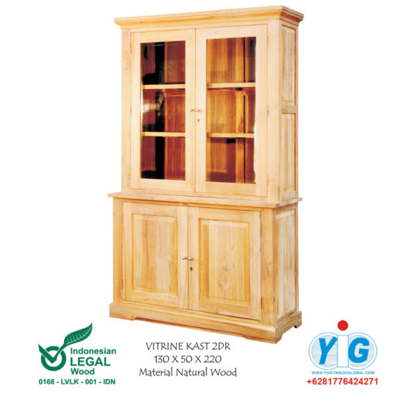 Vitrine Kast 2dr Yogya Indo Global Furniture Stores